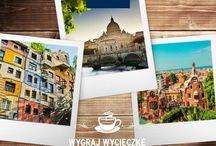 Loteria Tchibo / Wpadnij na kawę do Rzymu, Wiednia lub Barcelony. Codziennie do wygrania dwuosobowa wycieczka. Zarejestruj paragon na www.kawatchibo.pl