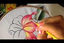 de flores en video de flores en tela