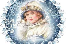 винтажные открытки новый год и рождество