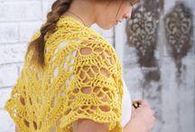 Crochet/knit shawl scarfs shrugs