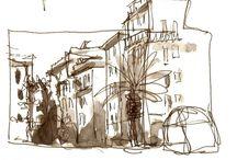 Urban sketching / mooie schetsen met potlood, inkt en aquarel, die je op reis maakt