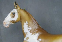 Model Horses sculpted by Sarah Rose / Horses sculpted by me and mostly painted by others.