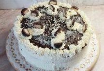 torta, tortakrém, piskótatekercs
