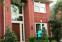 Window cleaning houses / clean windows