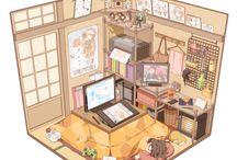 anime bedroom