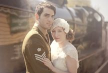 1920's Wartime Love Story Wedding Inspiration / 1920's Wartime Love Story Wedding Inspiration