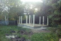 Rusterema.ru строительство timberframe / ход строительства беседки садового павильона с барбекю с элементами тимберфрейм timberframe