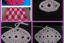 how to crochet a Diamond granny square