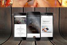 Phone mockups / Phone mockups for app and responsive web site presentation...