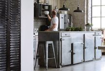 * Industrial  Eclectic Kitchens * / Industrial kitchen inspiration from around the globe