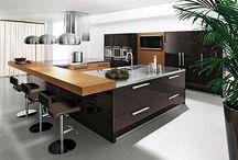 Isla de cocina moderna