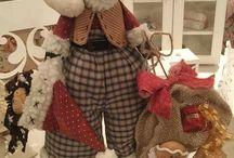Muñecos de Navidad en Telas
