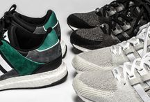 The Evolution of the adidas Equipment Support / Over the years the Equipment (EQT) Support has evolved from merely just being a running shoe to being one of the most loved silhouettes both for casual or sport. The brand with three-stripes has incorporated modern discoveries such as its Primeknit fabric, which is a highly breathable/flexible replacement for bulky, more traditional uppers.