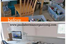 Before/After Photos / Before and After photos of organizing work completed in clients' homes