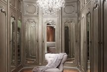 mirrored bliss / Mirrored furniture, vanity, beds, decor!