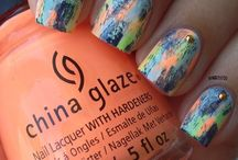 Nail art Abstract- Water Mable-Gradient