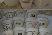 Garden - Flower pots / Decorated - Painted - Various uses