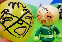 風船遊び!❤お絵かき♪メロンパンナちゃん アンパンマン アニメ&おもちゃ
