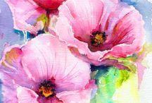 수채화-꽃그림