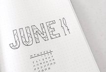 Planning time and bullet journals