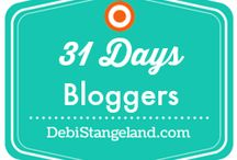 31 Days 2014 / For all the bloggers participating in the 31 Day series in 2014. Come, join, pin your lovely buttons and start reading! To be invited please email YouMatter@DebiStangeland.com and be sure to say {31 Days Bloggers} in your subject line. NOTE: You must send me the EMAIL address you use to sign in to Pinterest for the invite to be valid. / by Debi★Stangeland