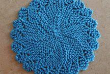 Knitted Round Dishcloths