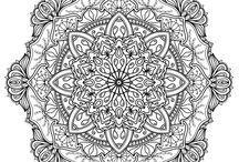 Krita mandala coloring pages / Series of mandalas for adults to color