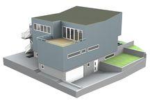 Vertex BD Building Design Software / 3D house models visualized  with Vertex BD software