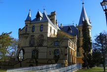Większyce - Pałac / Pałac w Większycach.  Neogotycki pałac z XIX wieku wybudowany przez Marca Heymanna. Od 2003 roku jest własnością prywatną i mieści się w nim kompleks hotelowo - restauracyjny.
