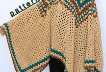ruanas en crochet