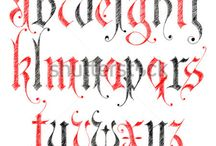 Calligraphy / Letters of the medieval ages