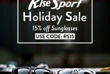 Holiday Sales & Gifts / Holiday sale   #coupon #sunglasses #sunnies #shades #RiseSport #eyewear