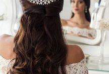 Arranjo para cabelo de noivas