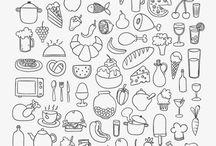 Bar e Restaurante / Desenhos e imagens sobre bares e restaurantes