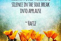 Spirituality ~ Hafiz / Kabir ~ / by ~ Vicki ~