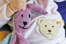 Doudoux tricotes aux aiguilles