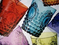 gorgeous glass wear and tumblers