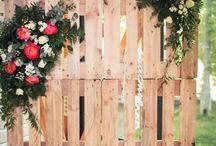bryllupsfest på kartongen