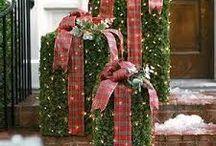 vánoce před dům