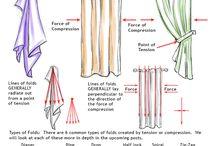 Drawing - fabric & folds