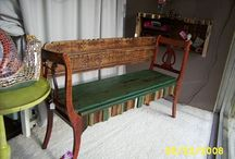 Banco feito de cadeiras
