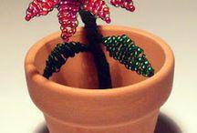 beaded trees and flowers / idee per realizzare alberelli e flori di perline