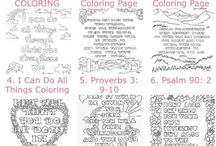 Bible colouring
