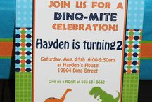 Jai's dinosaur birthday party