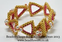 Beaded Clasps / These are all projects that I have designed for my book 'Beaded Clasps', published in January 2014. The projects include standalone clasps made using Peyote stitch, Herringbone or Right Angle Weave, plus ten complete jewellery projects using beaded clasps, as well as a lot of useful information about different types of clasp and how to choose the best type for your jewellery.