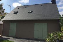 ThermaCote murs et toiture (56-Morbihan) / Application par THERMACOTE France de ThermaCote sur murs et toiture, Maison dans le Morbihan