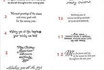 Christmas Card Verses