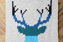 Crochet C2C Graphghans