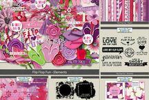 GIRL'S SCRAPBOOK KITS / Digital Scrapbook Kits for Girls