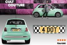 Fiat 500 - Affinity Plate Designs / View all of the Fiat 500 Inspired Affinity Plate Designs. See all of our special editions here: https://www.fourdot.co.uk/special-editions/special-edition-number-plates.php